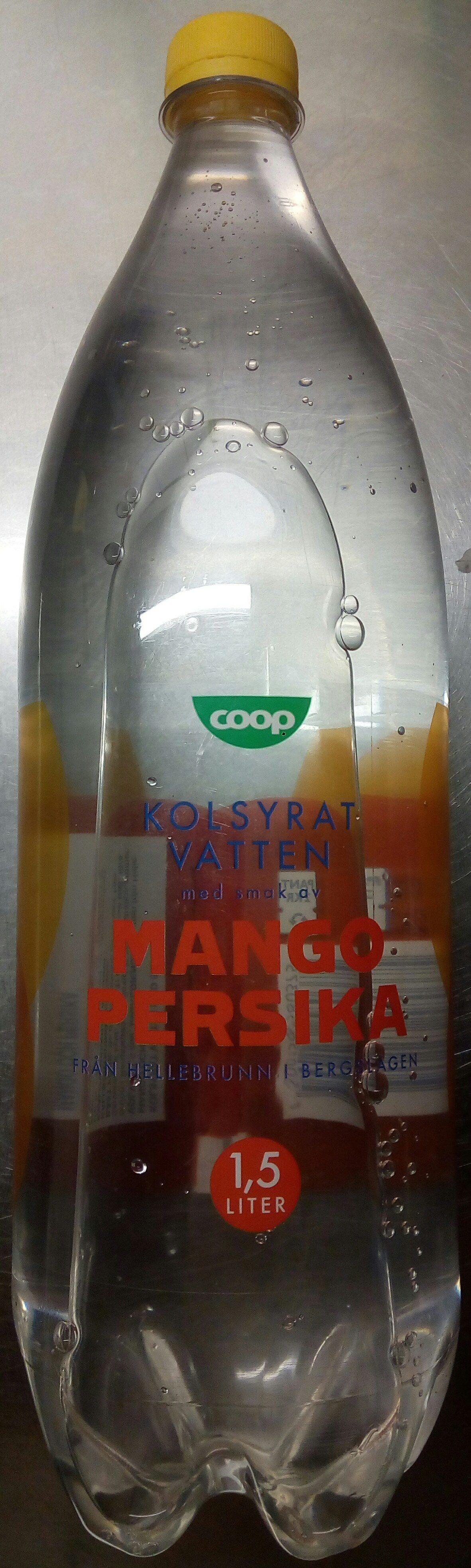 Coop Kolsyrat vatten med smak av Mango och Persika - Produit - sv