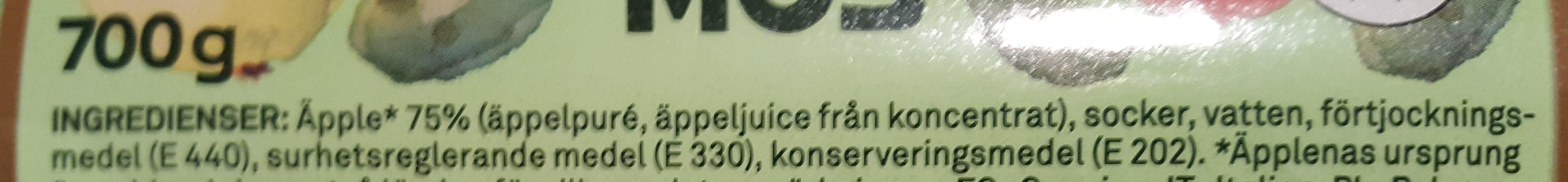 Äppelmos - Ingrédients - sv