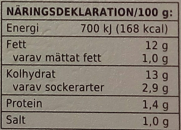 Coop X-tra Potatissallad - Informations nutritionnelles - sv