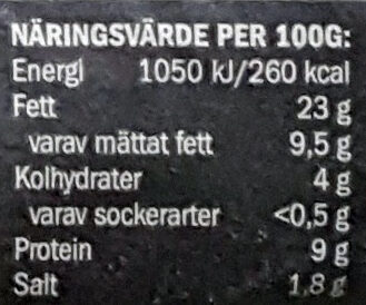 Svensk Falukorv - Informations nutritionnelles - sv