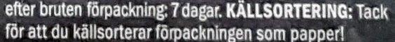 Svensk Falukorv - Instruction de recyclage et/ou informations d'emballage - sv
