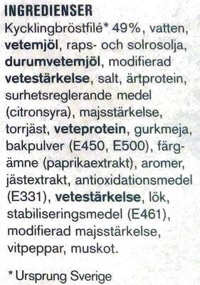Max Kycklingnuggets - Ingrédients - sv