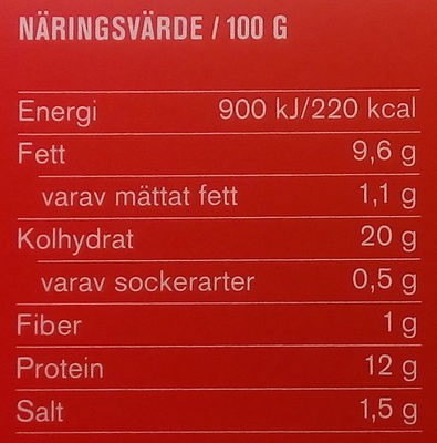 Max Kycklingnuggets - Nutrition facts
