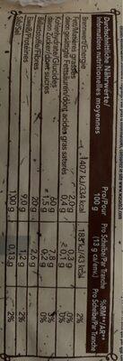 Vollkorn Knäckebrot - Voedingswaarden - de