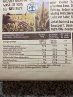 Vollkorn Knäckebrot - Informations nutritionnelles - de