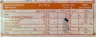 Wasa - 275G - Nährwertangaben