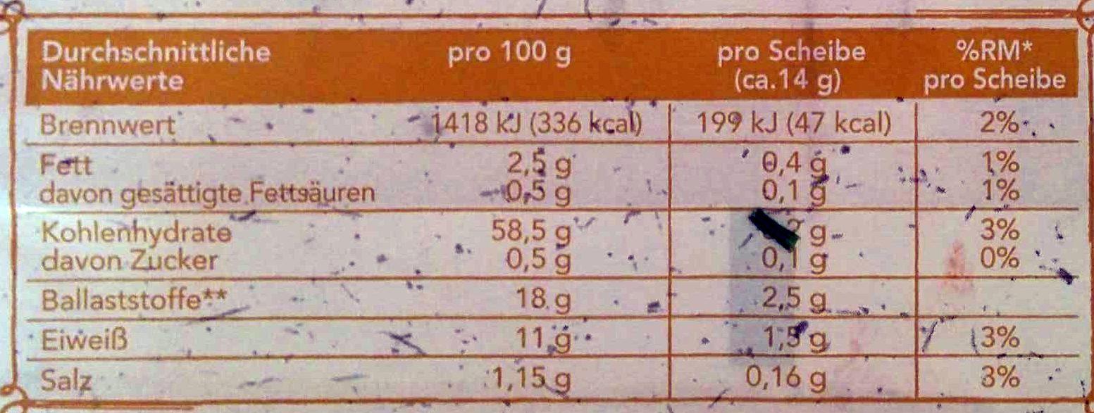 Wasa - 275G - Voedingswaarden - en