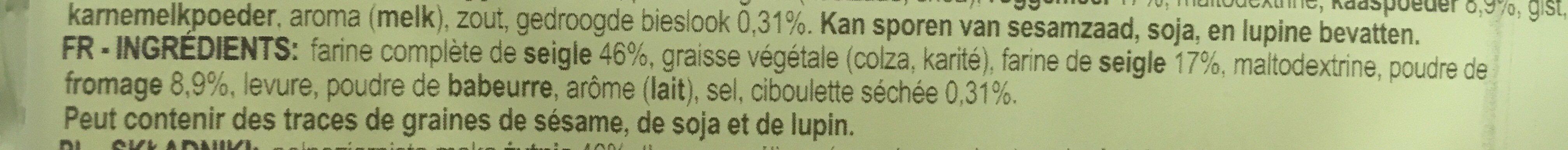 Pain croustillant sandw Cheese&Chiv - Ingredienti - fr