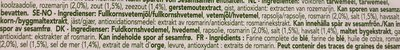 Pain croustillant Rosemary & Salt - Ingredienti - fr