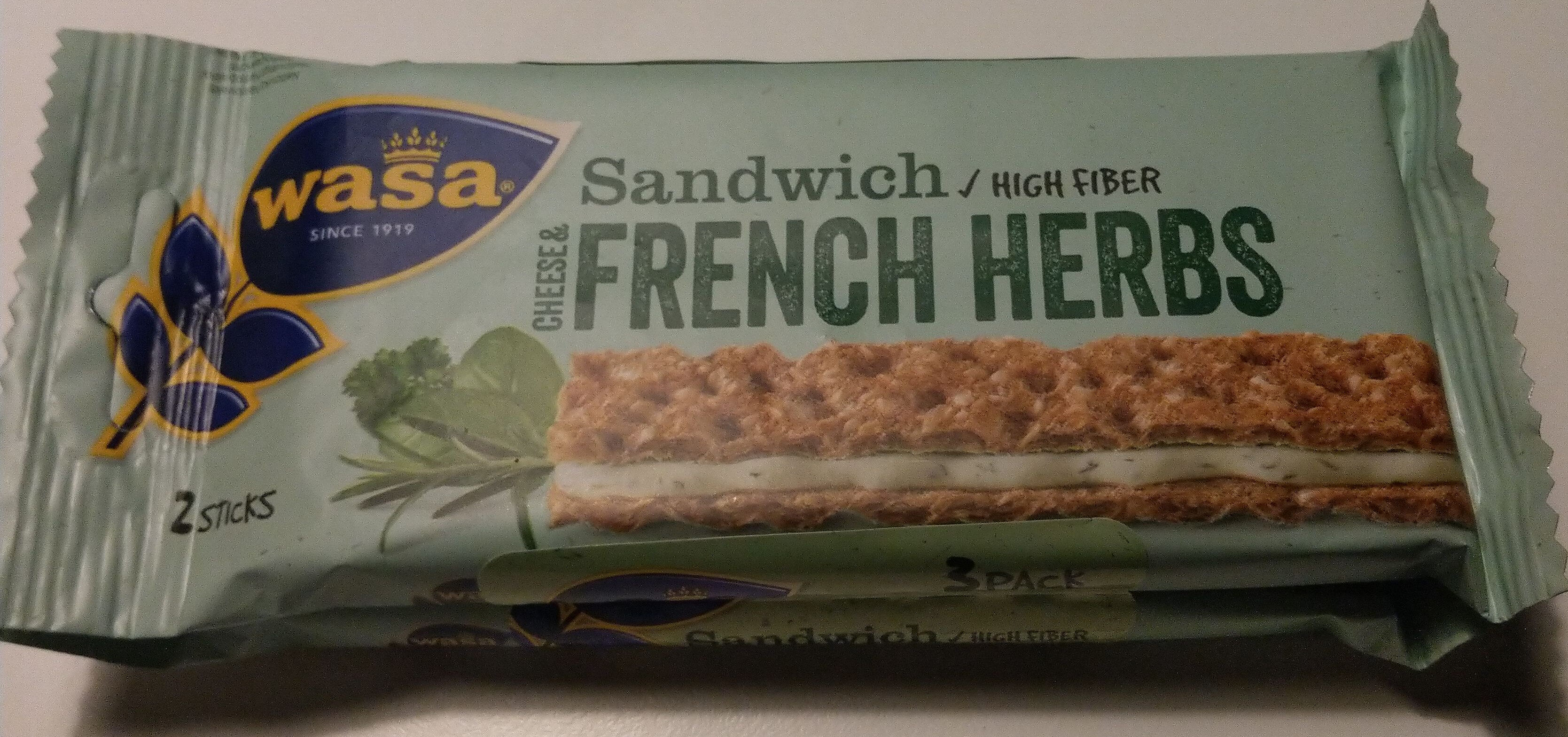 Sandwich Cheese & French Herbs - Produit - de