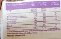 Wasa Hafer & Sesam - Valori nutrizionali - de