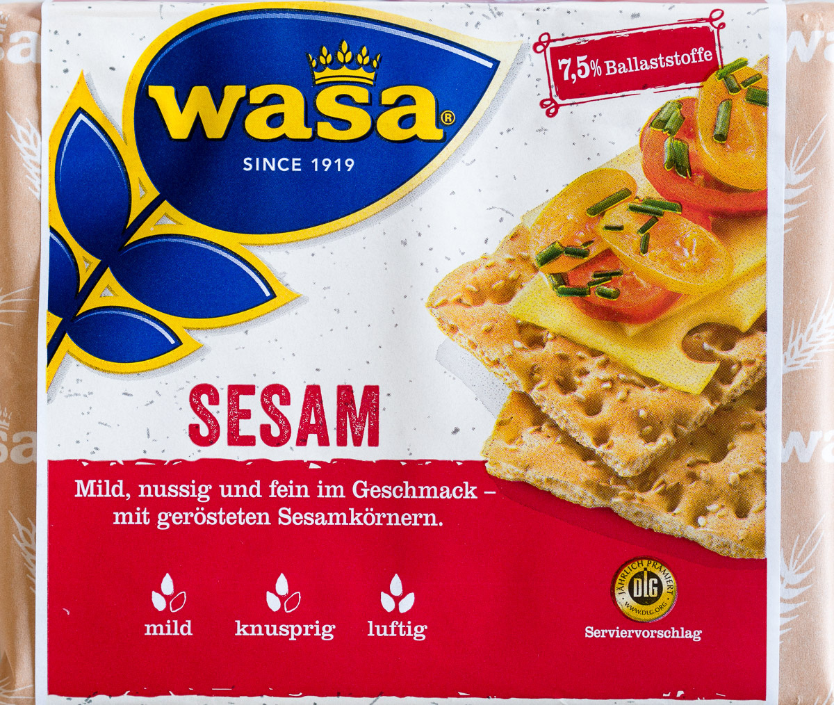 Biscotes integrales con sésamo tostado - Product - de