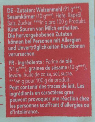 Biscotes integrales con sésamo tostado - Ingredients - en