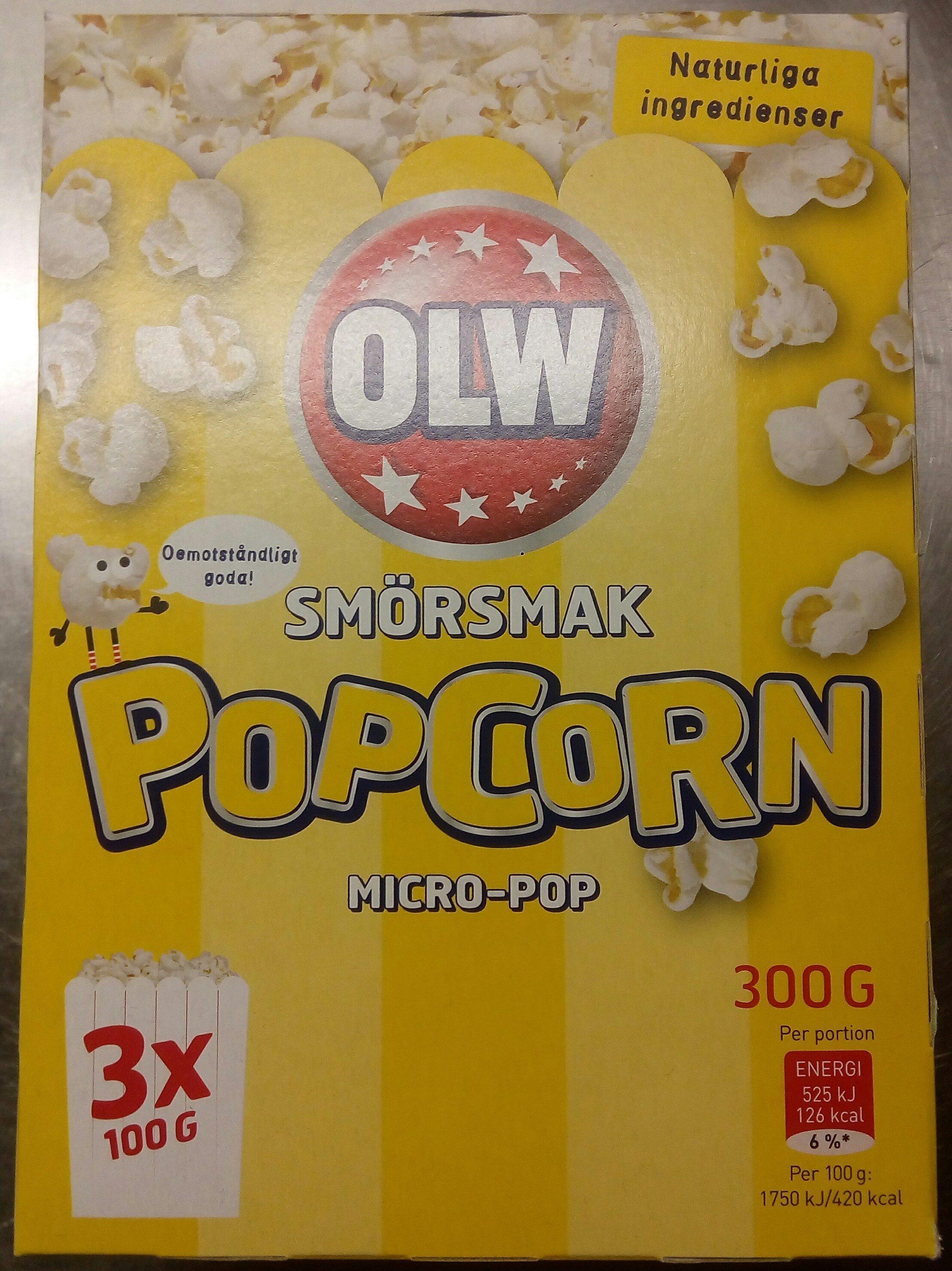 OLW Popcorn Smörsmak - Prodotto - sv