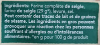 Wasa tartine croustillante authentique - Ingredientes - fr