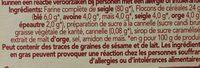 Wasa tartine croustillante crunch sensation mueslin - Ingredients - fr