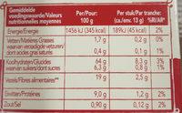 Wasa tartine croustillante crunch sensation mueslin - Nutrition facts - fr