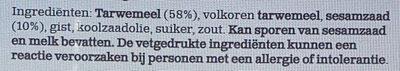Wasa Goudbruin - Ingrediënten - nl