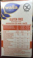 Glutenfreies Wasa , Sesam - Prodotto - de