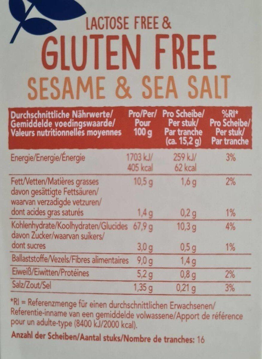 Glutenfreies Wasa , Sesam - Valori nutrizionali - de