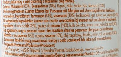 Pain croustillant Round Sesam Salt - Ingredients - en