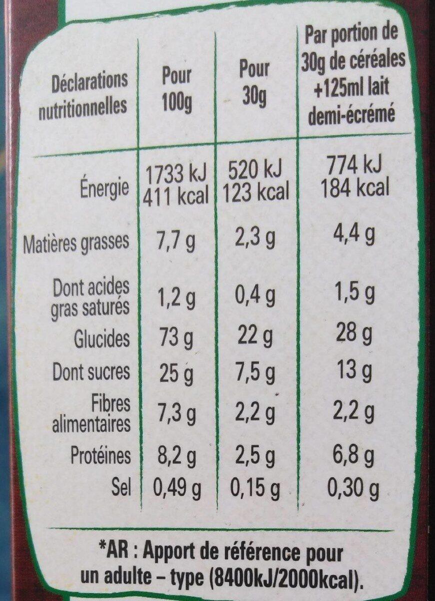 Céréales Lion Bio - Informations nutritionnelles - fr