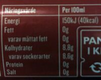 Apotekarnes Julmust - Informations nutritionnelles - sv