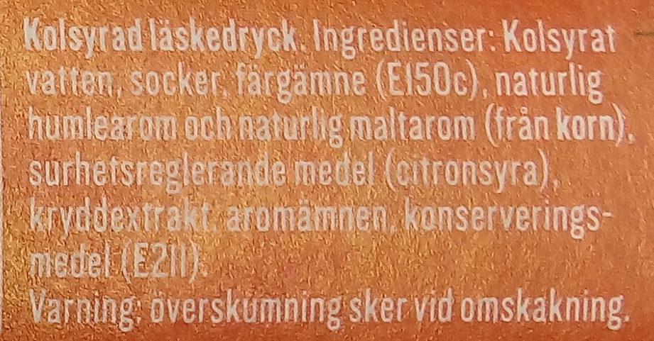 Apotekarnes Julmust - Ingredients