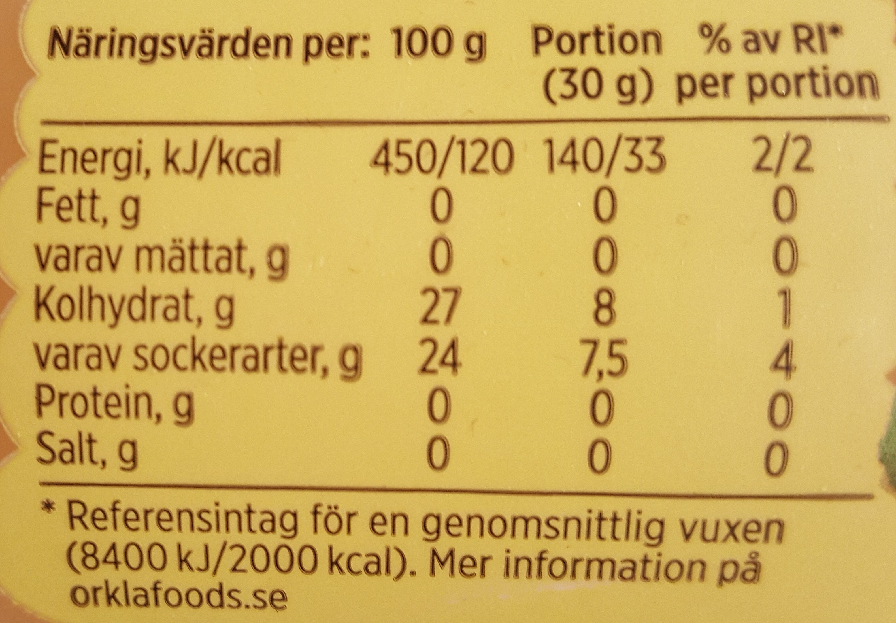 Äppelmos Original - Nutrition facts