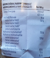 Gold Nut Müsli - Nutrition facts