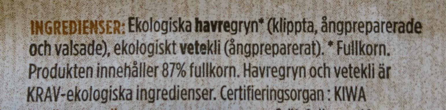 Fiberhavregryn - Ingredients