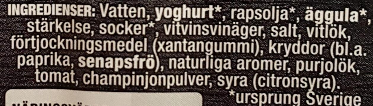 Mild Kebabsås - Ingrédients - sv