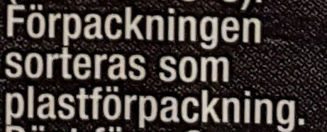 Mild Kebabsås - Instruction de recyclage et/ou informations d'emballage - sv