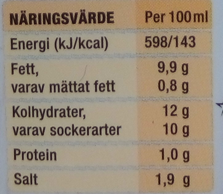 Thousand Island Lätt Dressing - Informations nutritionnelles - sv