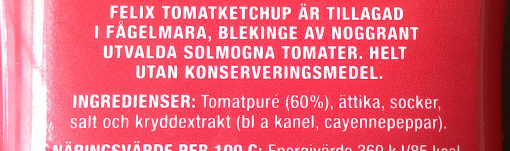 Tomatketchup - Ingredients