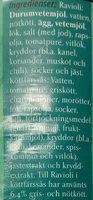 Felix Ravioli i köttfärssås - Ingrédients - sv