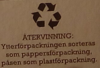 Grandiosa X-tra Allt Kebab - Recycling instructions and/or packaging information - sv