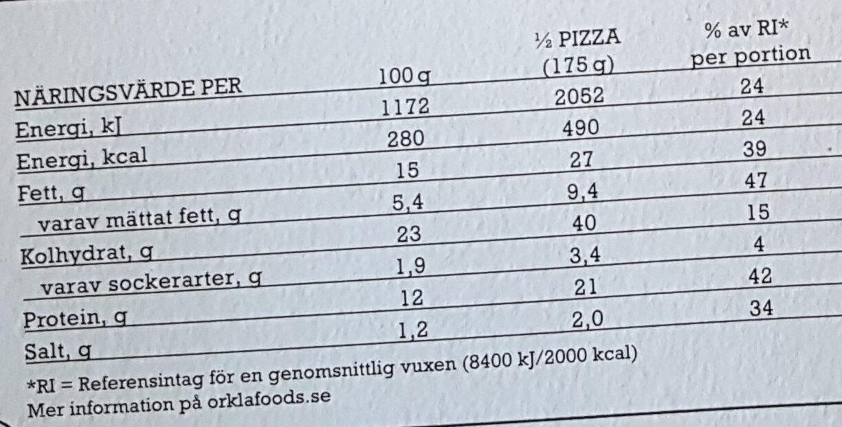 Grandiosa - X-tra Allt - Holy Pepperoni - Informations nutritionnelles - sv