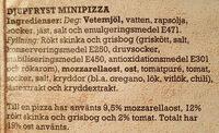 Grandiosa X-tra Allt Calzone Ost & Skinka - Ingredients - sv