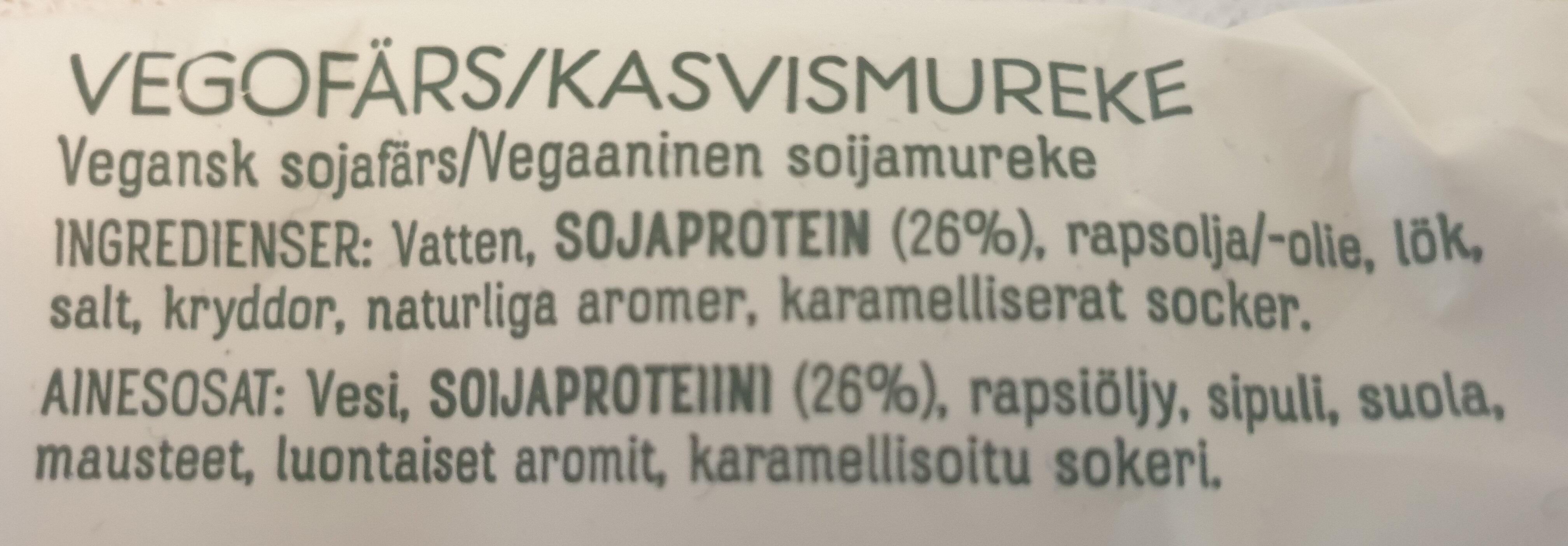 Anamma vegofärs - Ingrédients - sv