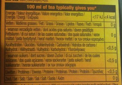 Forest fruit (Black tea) - Voedigswaarden