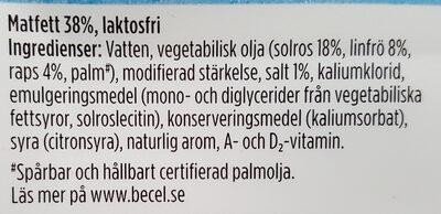 Lätt Omega 3 - Ingrediënten - sv