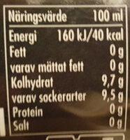 Julmust - Informations nutritionnelles - sv