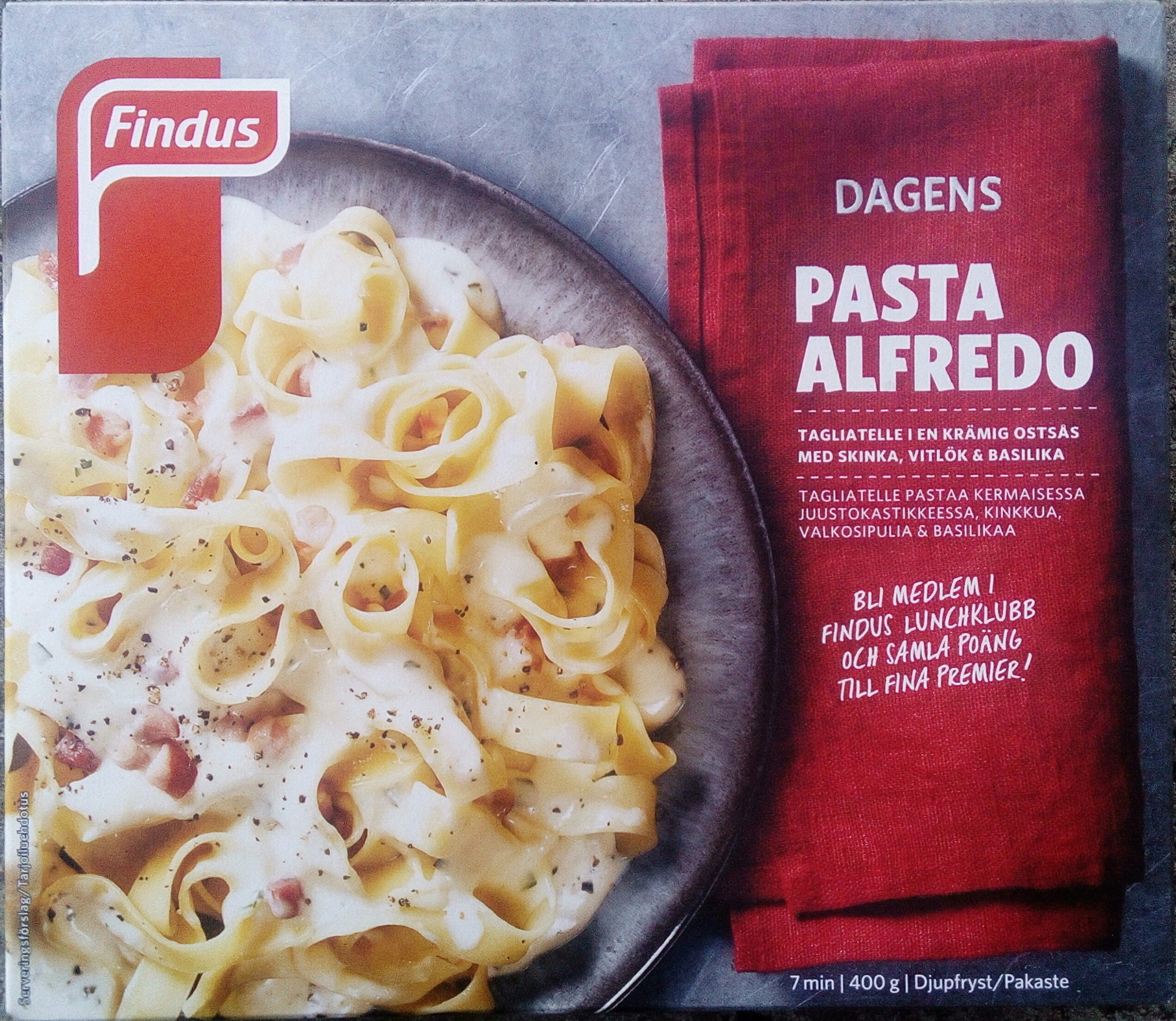 Findus Dagens Pasta Alfredo - Produit - sv
