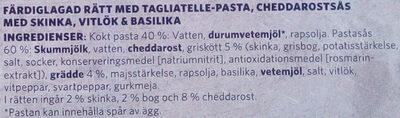 Findus Dagens Pasta Alfredo - Ingrédients - sv