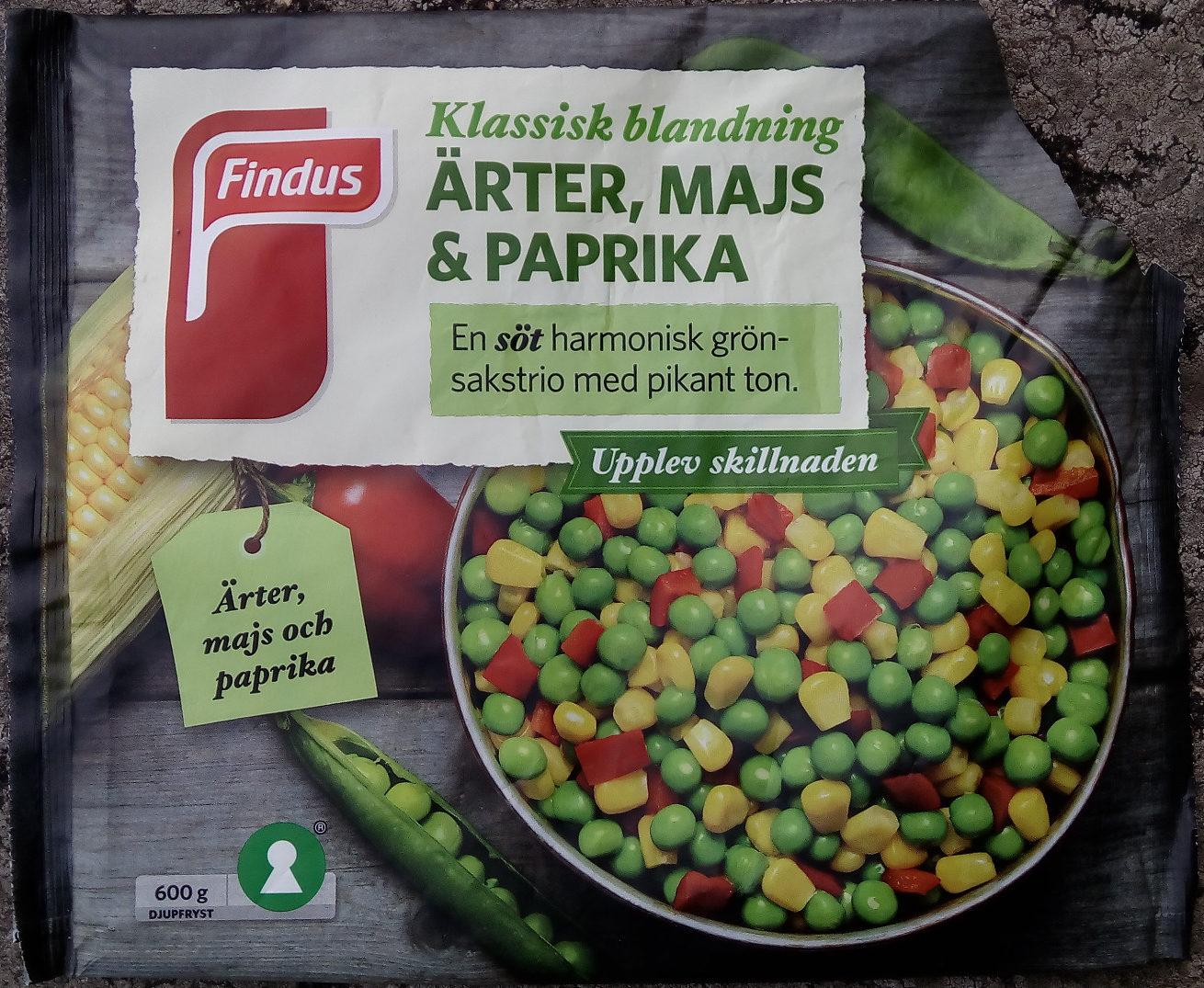 Findus Klassisk blandning Ärter, majs & paprika - Product