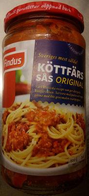 Findus Köttfärssås Original - Produit - sv