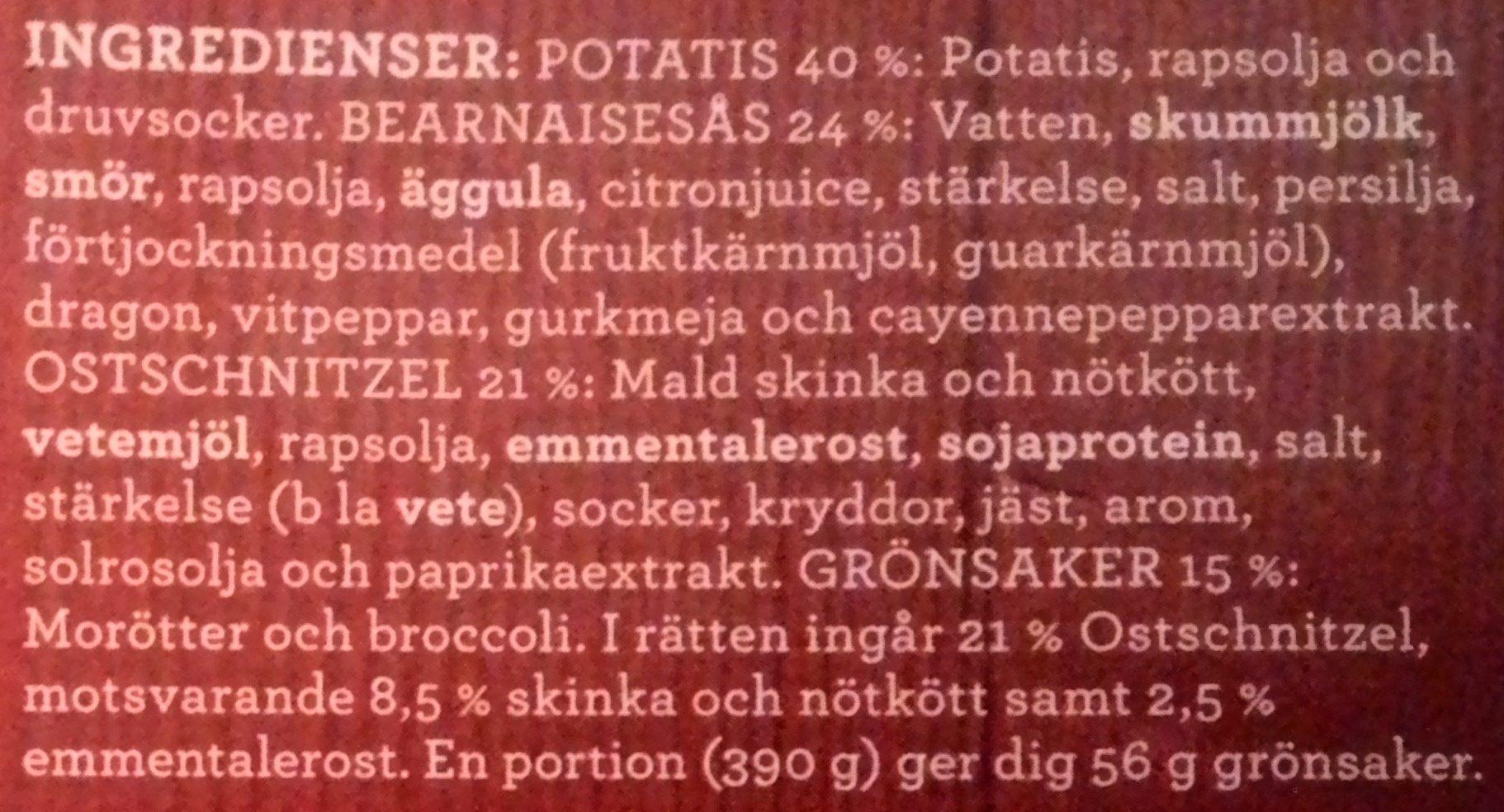 Findus Dagens Ostschnitzel - Ingrédients - sv