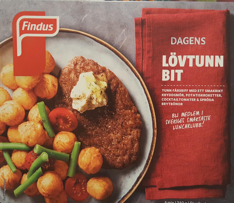 Findus Dagens Lövtunn bit - Produit - sv