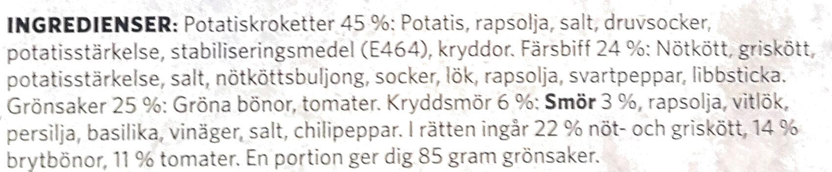 Findus Dagens Lövtunn bit - Ingrédients - sv
